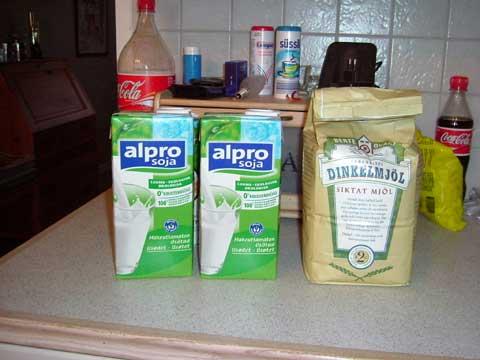 och mjölken mot sojamjölk